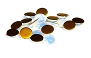 12pc milky white glass cabochons 8mm