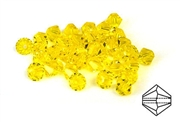 10pc swarovski crystal bicones citrine 4mm