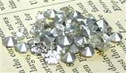 30pc glass rhinestone cone clear crystal 2mm