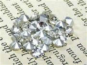 20pc glass rhinestone cone clear crystal 5mm