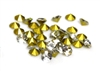 30pc 3mm rhinestone point back crystals clear