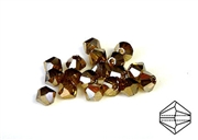 10pc precoscia crystal bicones golden flare 4mm
