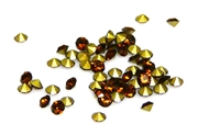 60pc 2 mm rhinestone point back crystals smokey topaz