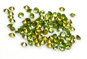 60pc 2 mm rhinestone point back crystals peridot green