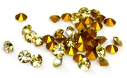 20pc 3mm rhinestone point back crystals light topaz
