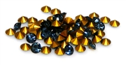 20pc 3mm rhinestone point back crystals montana blue