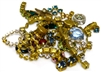 10pc Assorted Rhinestones vintage mix