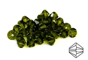 10pc precoscia crystal bicone olivine green  6mm