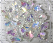4pc crystal butterfly drops clear ab