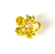 1pc cubic zirconia flowers jonquil 15mm