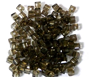 15pc Faceted Crystal Cubes Black Diamond 4mm