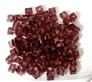 15pc Faceted Crystal Cubes Amethyst 4mm