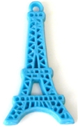 1pc resin charm blue eiffel tower 45x24mm