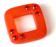 2pc resin square 20mm sun with rhinestones