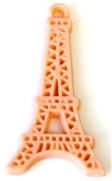1pc resin charm blush eiffel tower 45x24mm