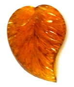1pc handmade czech glass leaf topaz