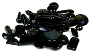 10gm cabochon mix glass black