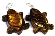1pc turtle shell pendant/charm brown 25x15mm