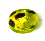 1pc venetian glass leopard wheel olivine green