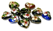 6pc assorted cloisonne hearts