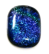 1pc dichroic cabochon blue #31