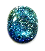 1pc dichroic cabochon blue #33