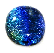 1pc dichroic cabochon blue #34