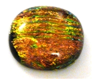 1pc dichroic cabochon brown #36