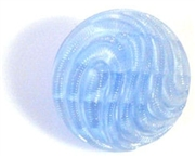 1pc czech glass button 18mm light sapphire wave