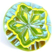 1pc czech glass button 22mm green ab large flower