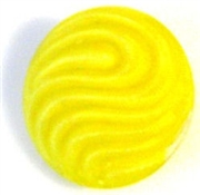1pc czech glass button 18mm yellow wave