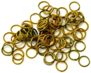 30pc 6mm coloured jump rings khaki mix