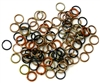 30pc 6mm coloured jump rings brown mix