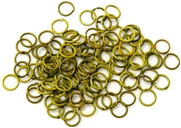 30pc 6mm coloured jump rings light green mix