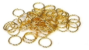 50pc gold plated twisted jump rings 10mm
