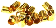 10pc gold plated end caps 6mm