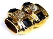 1pc alaclarte clasp windows gold plated black white