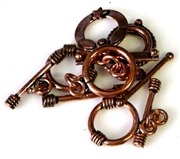 4pc toggle clasp antique copper assorted