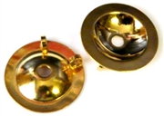 2pc gold plated button backing 20mm