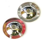 2pc silver plated button backing 14mm
