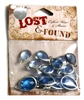 16pc lucite resin teardrops silver plated blue