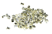 200pc silver plated crimp tubes