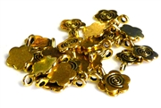 20pc gold plated flower bails