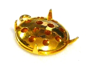 1pc japaneese sieve findings gold plated drop 8mm