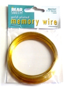 1 ounce memory wire gold plated