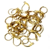 10pr gold plated hinged earring wires