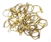 5pr Antique Gold Brass Tone Hinged Earring wires