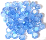 12pc Faceted Crystal Rounds 8x5mm Sapphire Blue