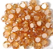 12pc Faceted Crystal Rounds 8x5mm Antique Pink