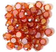 12pc Faceted Crystal Rounds 8x5mm Orange